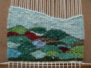 Little tapestry woven landscape
