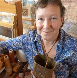 Photo of me in my studio - taken for Contemporary Craft Festival.